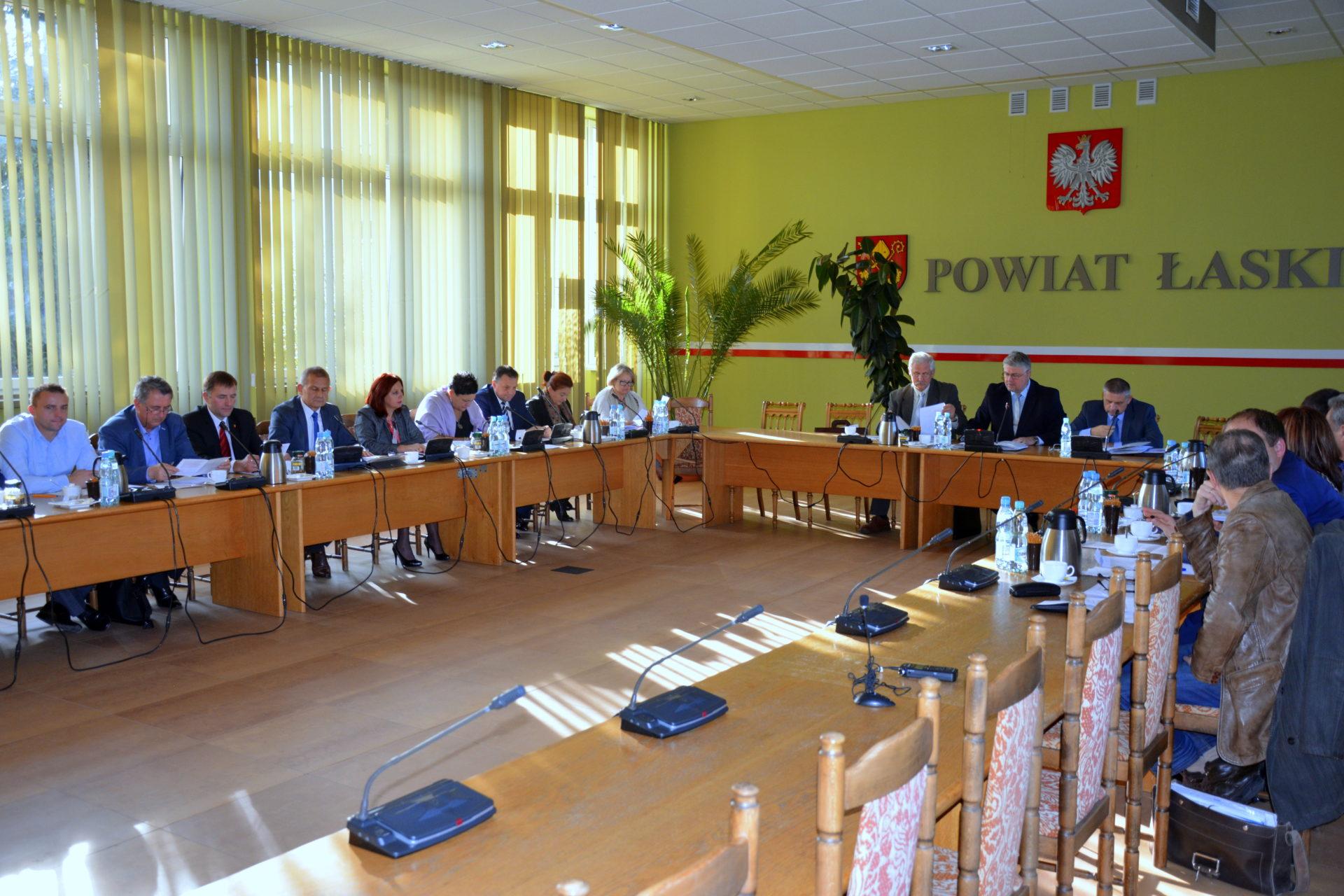 XV sesja Rady Powiatu Łaskiego