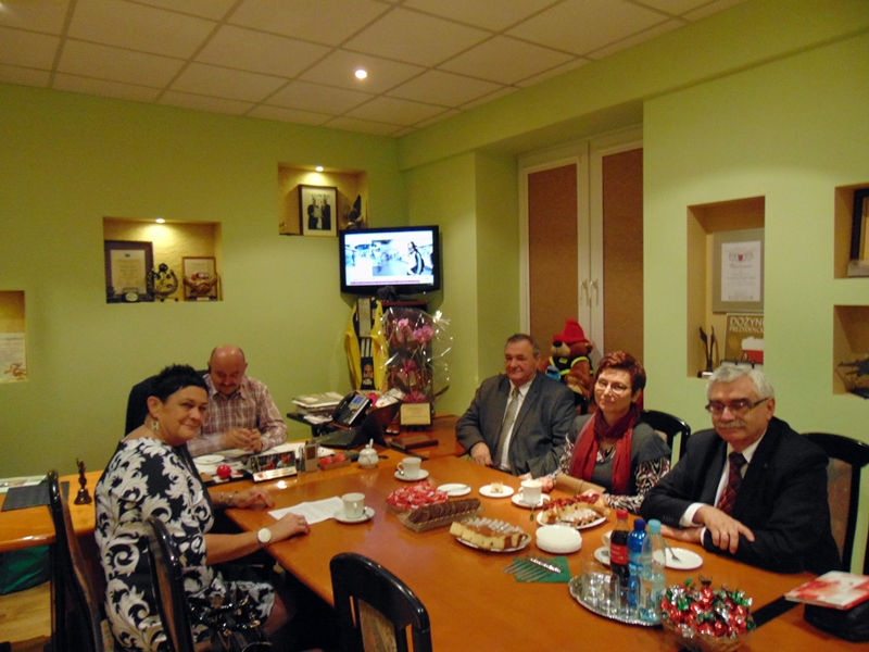 Spotkanie Starosty Łaskiego z władzami gmin