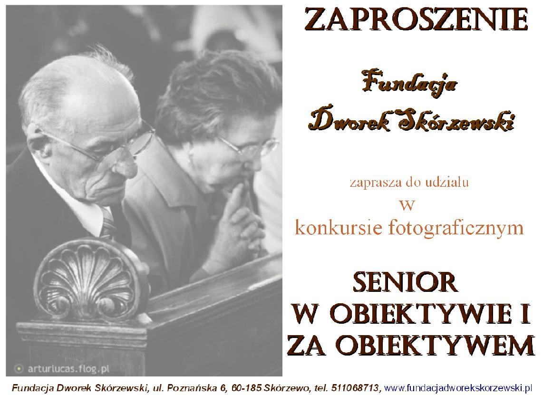 """Konkurs Fotograficzny """"Senior w obiektywie i za obiektywem"""""""