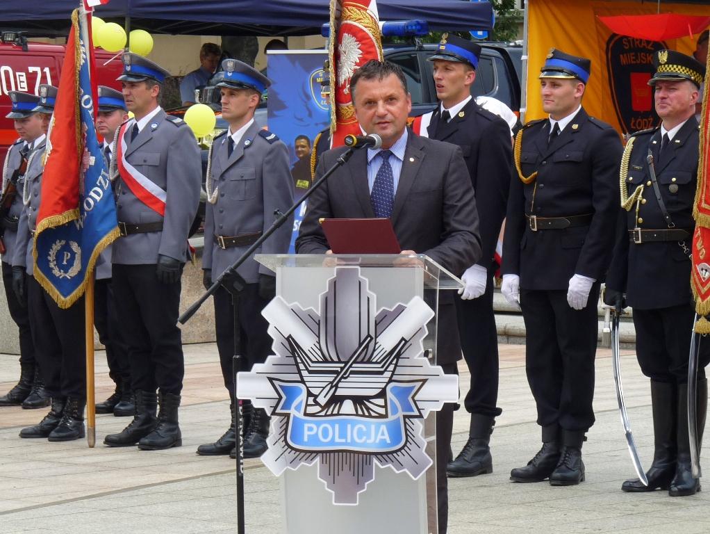 Obchody Święta Policji w Łodzi