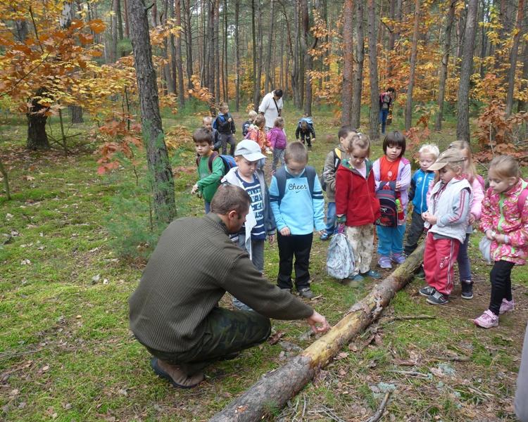 Spotkanie leśniczego z przedszkolakami