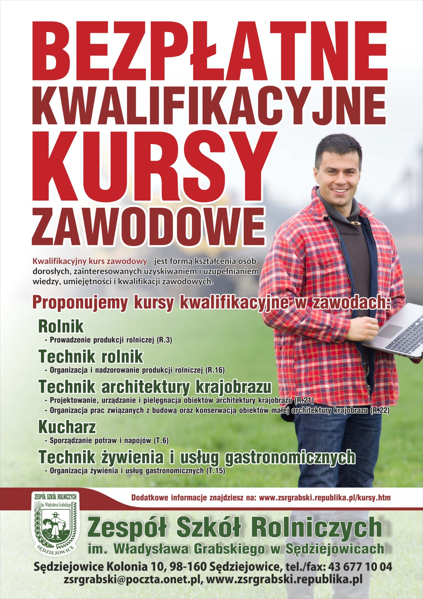 ZSR w Sędziejowicach zaprasza na bezpłatne kursy!