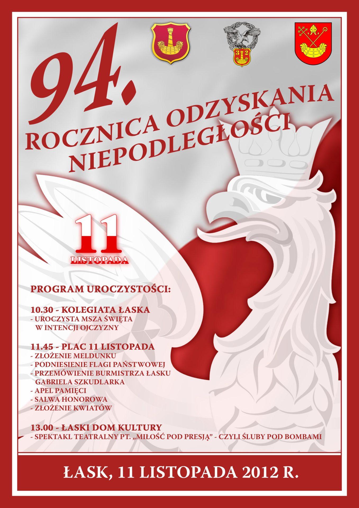 Zaproszenie do udziału w obchodach Święta Niepodległości