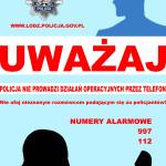 plakat policjant