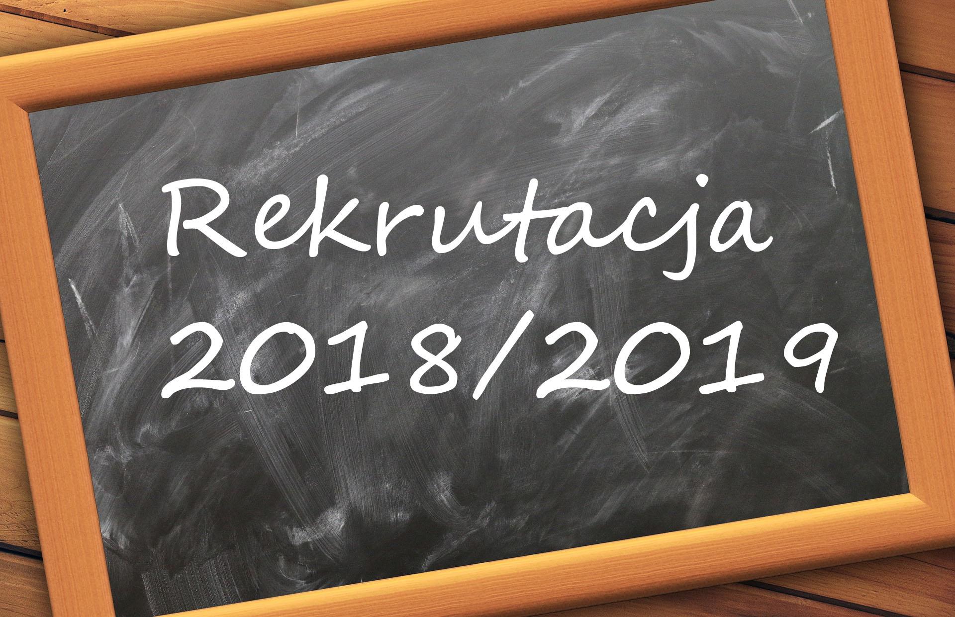 Rekrutacja na rok szkolny 2017/2018.