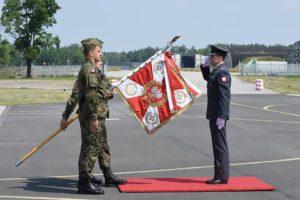 Uroczystość objęcia stanowiska Dowódcy 32. Bazy Lotnictwa Taktycznego