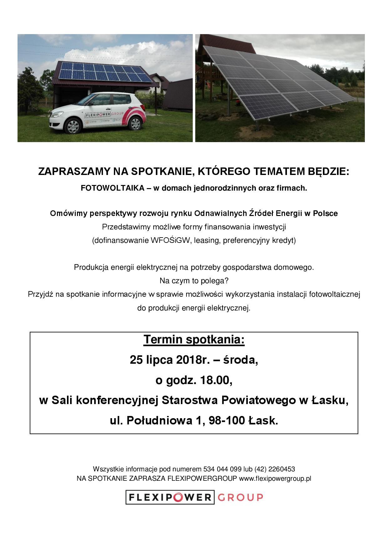 Zaproszenie na spotkanie w Starostwie Powiatowym w Łasku.