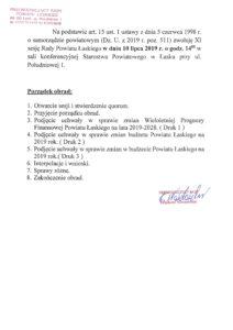 XI Sesja Rady Powiatu Łaskiego