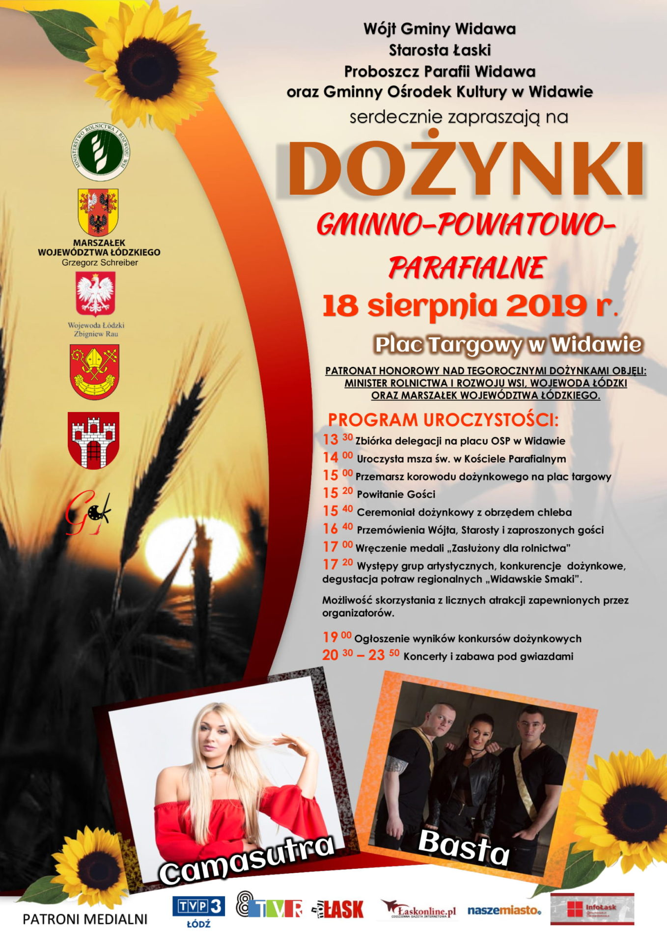 Dożynki Gminno Powiatowo Parafialne Widawa 2019