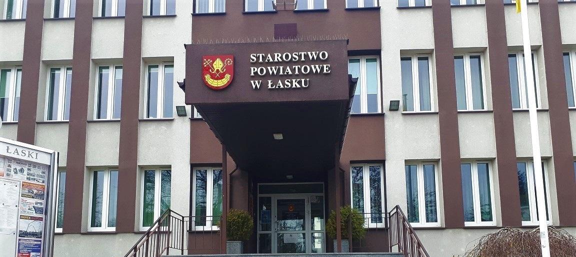 artykuł  Od poniedziałku 16 marca br. Starostwo Powiatowe w Łasku nieczynne dla petentów.