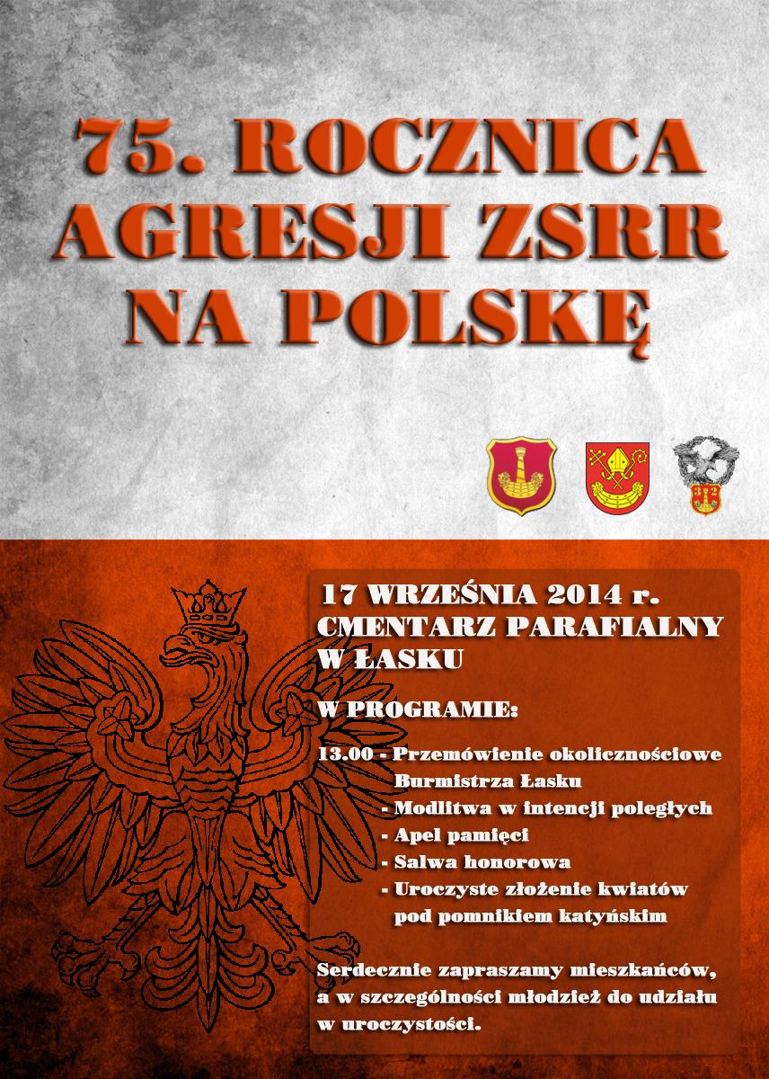 Zaproszenie na obchody 75. Rocznicy Agresji Sowieckiej na Polskę