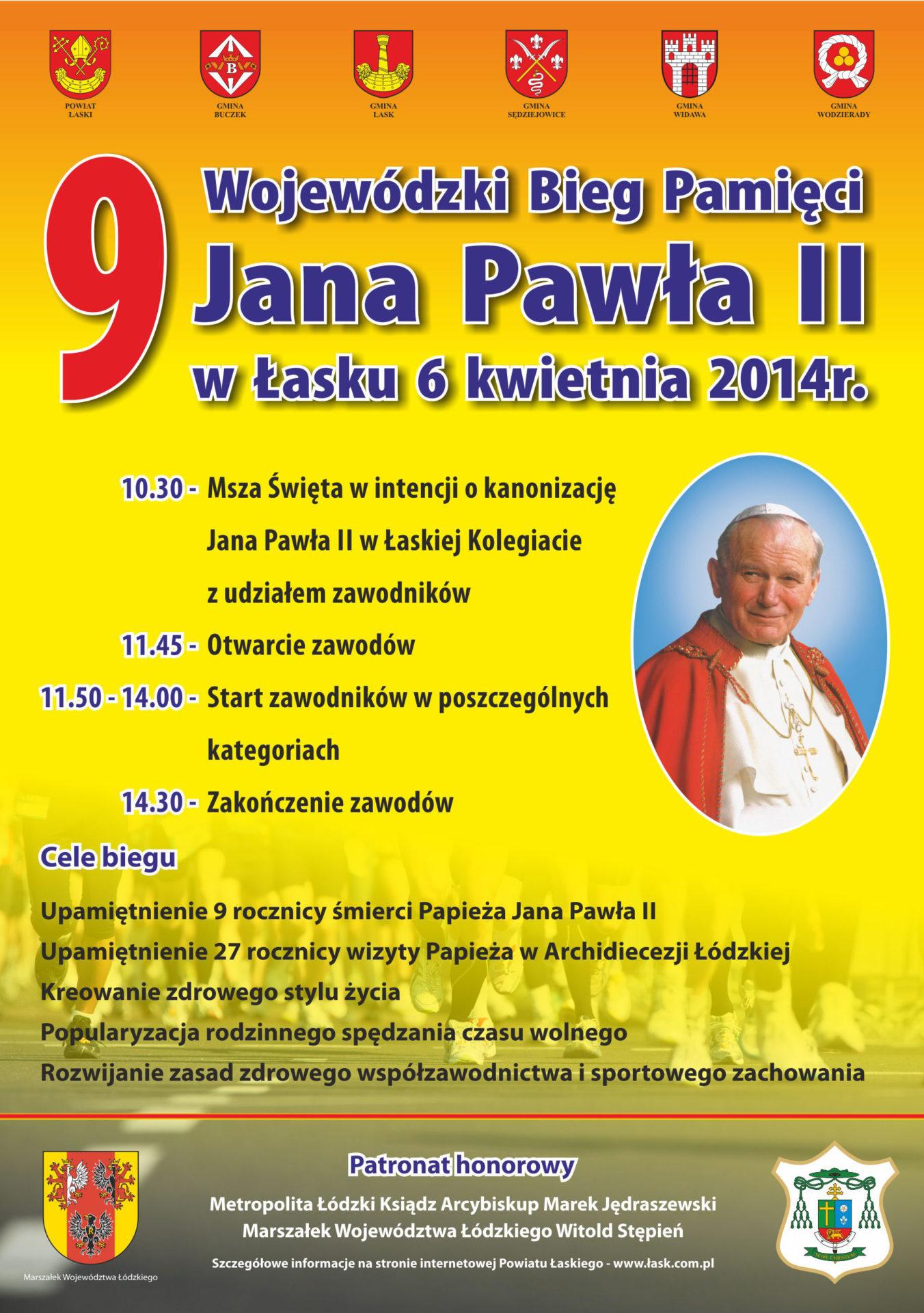 IX Wojewódzki Bieg Pamięci Jana Pawła II