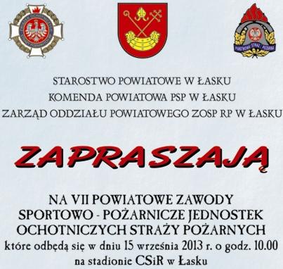 VII Powiatowe Zawody Sportowo – Pożarnicze jednostek OSP