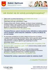 Elektroniczny nabór do szkol ponadgimnazjalnych w Powiecie Łaskim