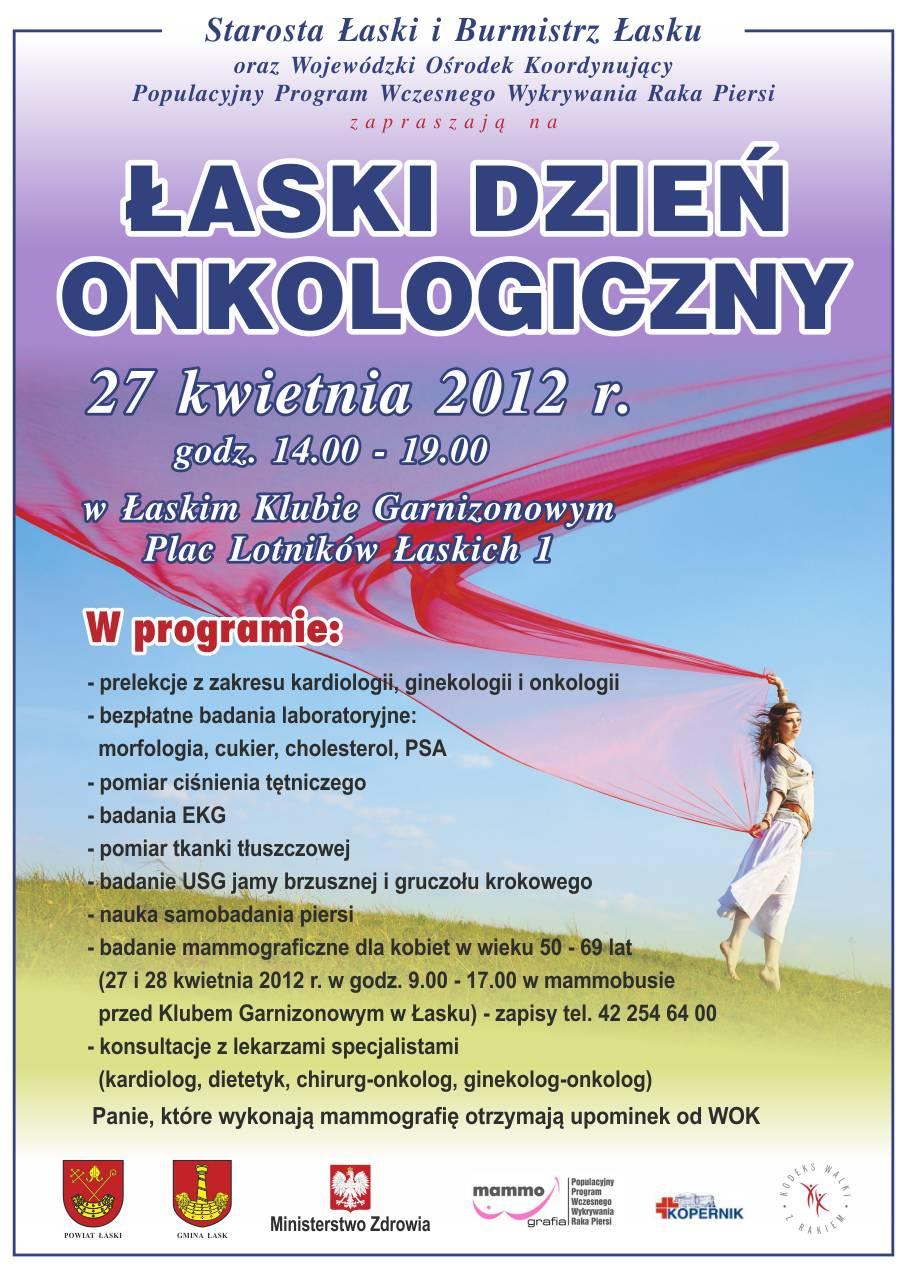Łaski Dzień Onkologiczny – 27 kwietnia 2012 r.