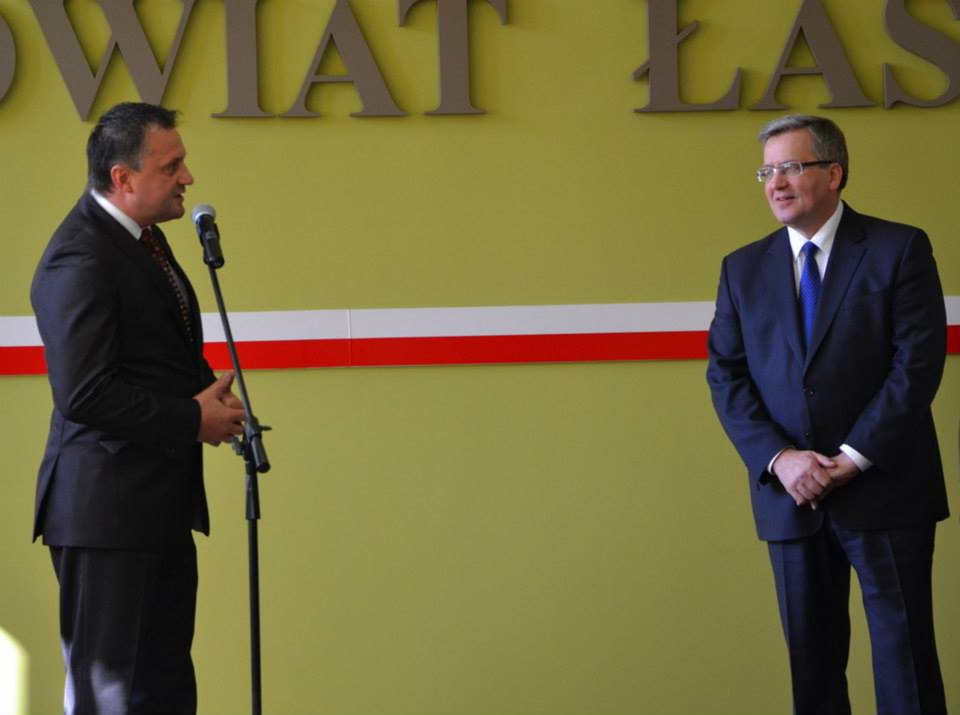 Prezydent Bronisław Komorowski w Powiecie Łaskim