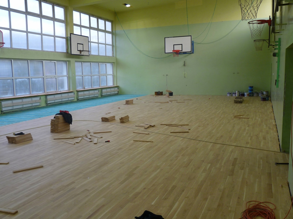 Remont sali gimnastycznej I LO w Łasku