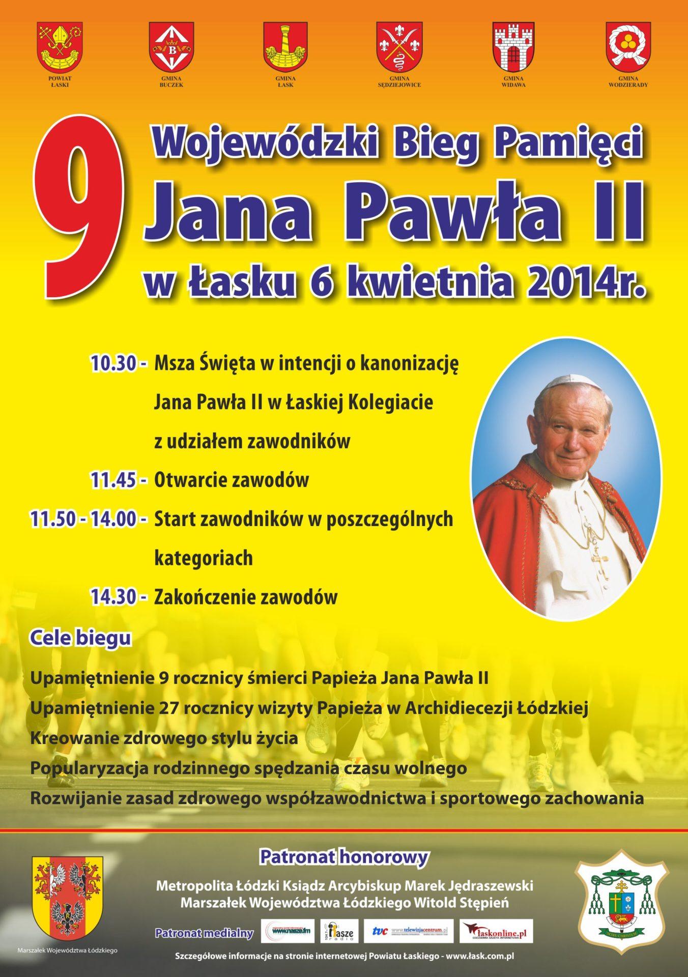 Bieg Pamięci Jana Pawła II: Zgłoszenia do środy!