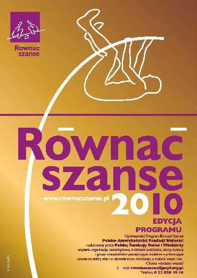 """Regionalny Konkurs Grantowy  w ramach Programu """"Równać Szanse 2010"""""""