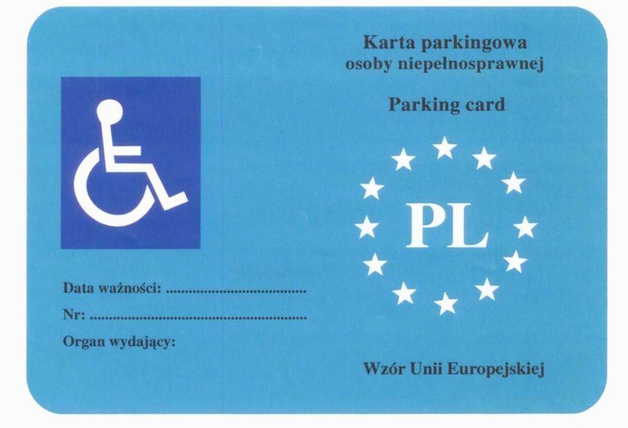 Karta Parkingowa – zmiany  dot. Zasad przyznawania i wydawania