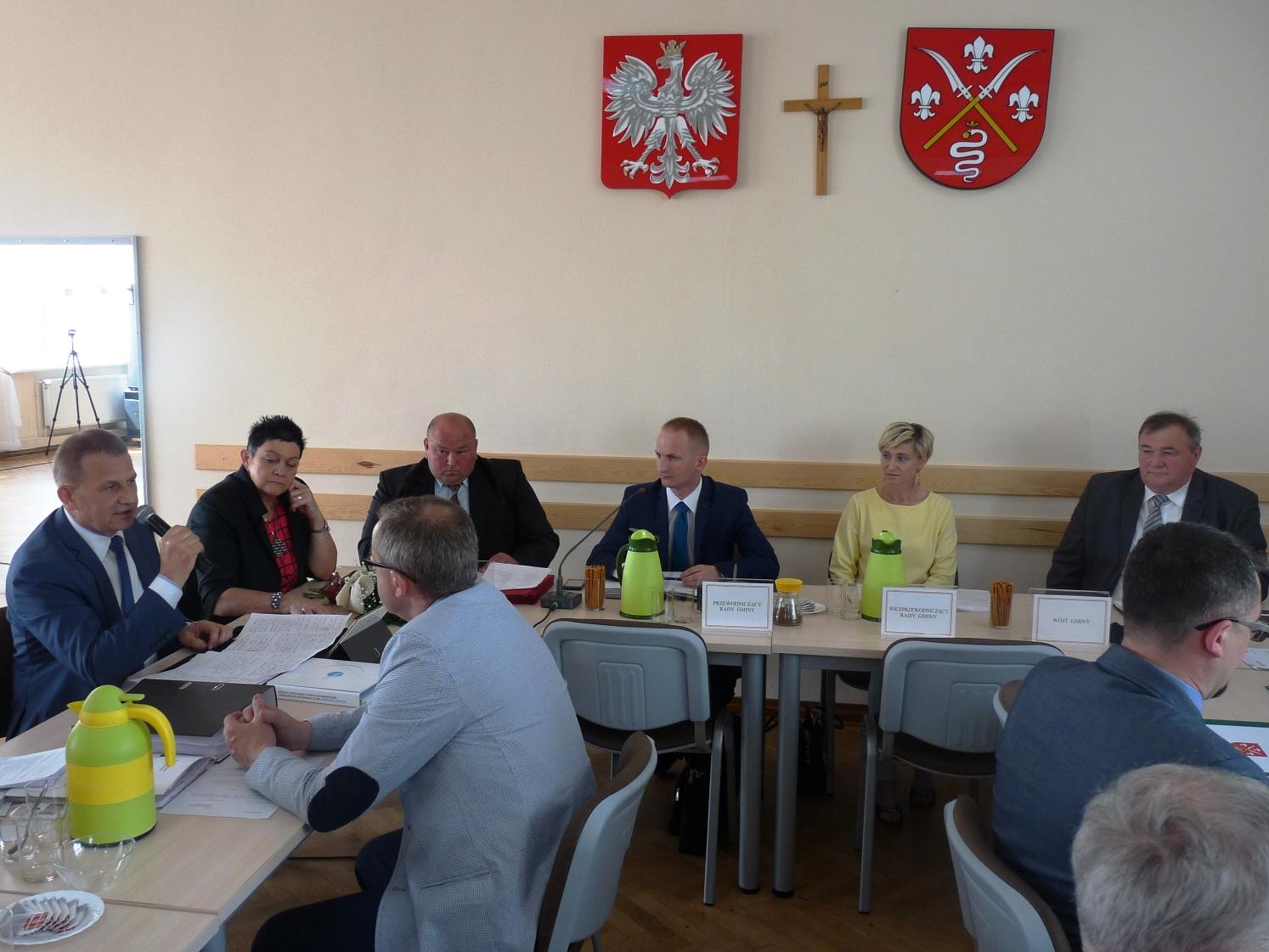 Sesja Rady Gminy Sędziejowice z udziałem Starosty Łaskiego