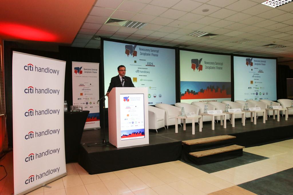 """Starosta Łaski na konferencji """"Zarządzanie i Finanse"""""""