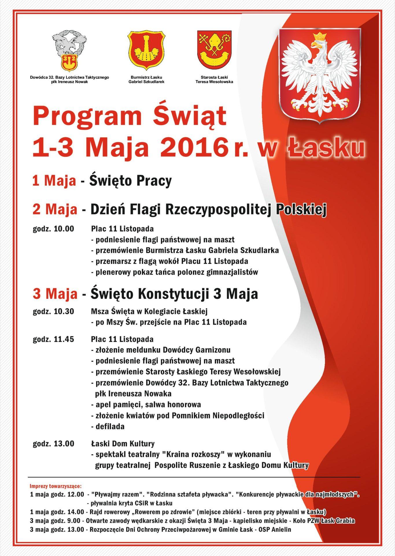 Święta 1-3 Maja 2016 r. w Łasku