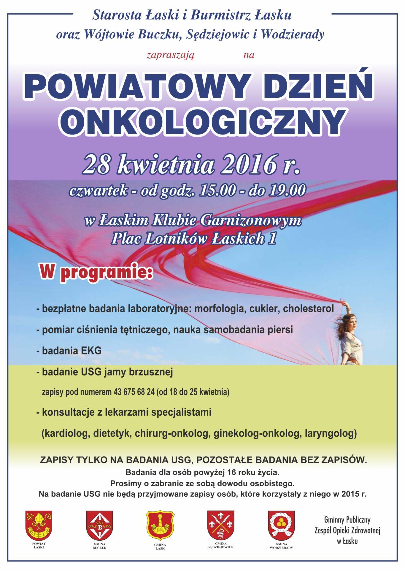 Powiatowy Dzień Onkologiczny – bezpłatne badania dla mieszkańców