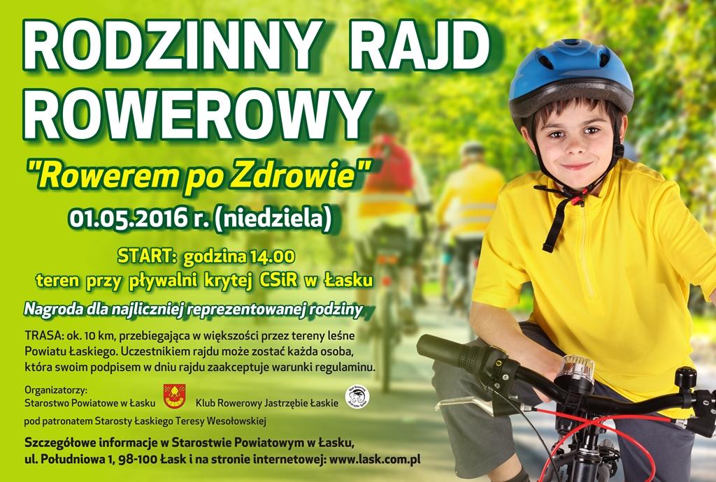 """Rodzinny Rajd Rowerowy """"Rowerem po zdrowie"""""""
