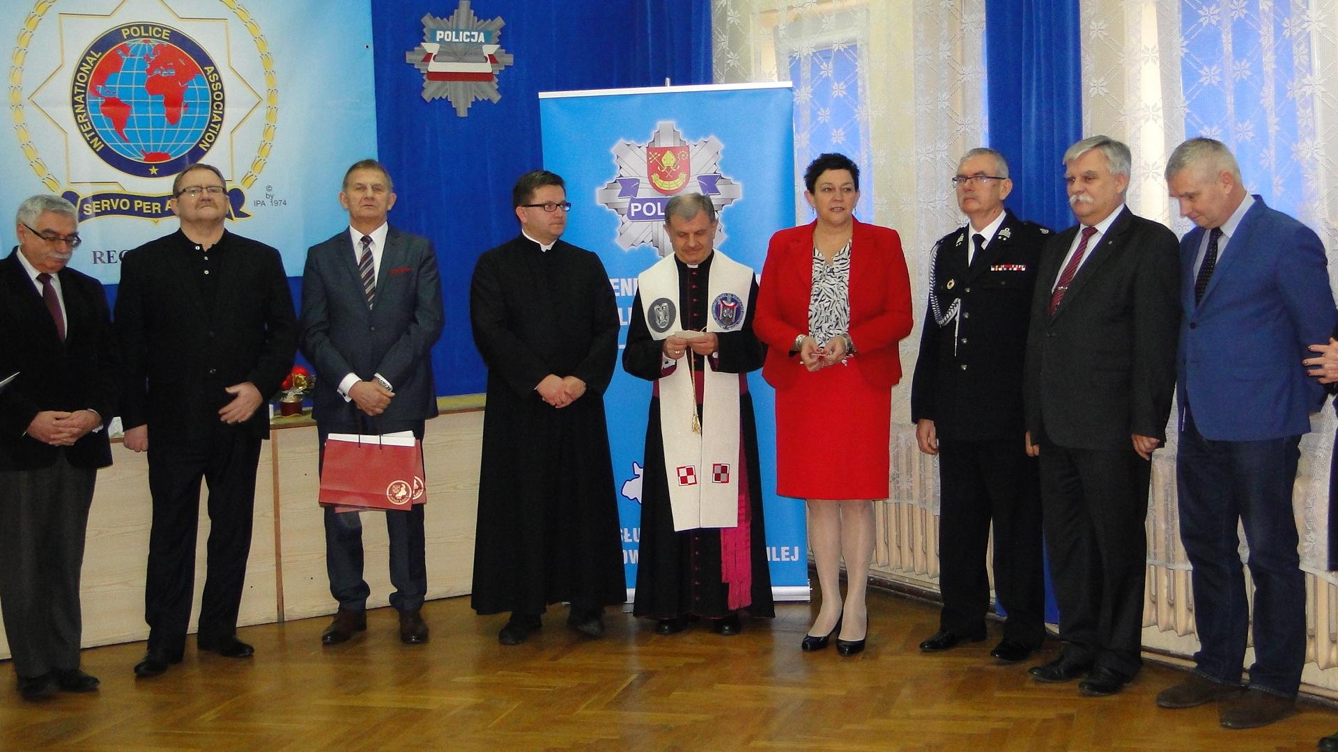Spotkanie wigilijne w KP Policji w Łasku