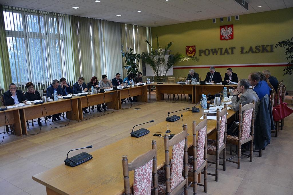 XXXIII sesja Rady Powiatu Łaskiego