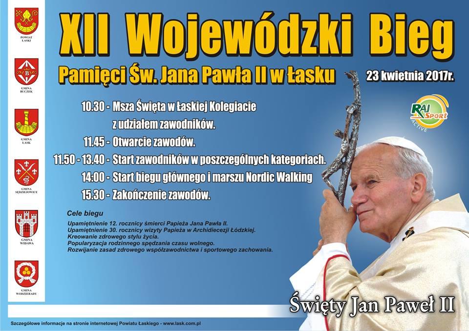 XII Bieg Papieski w Łasku: Ruszyły zapisy!