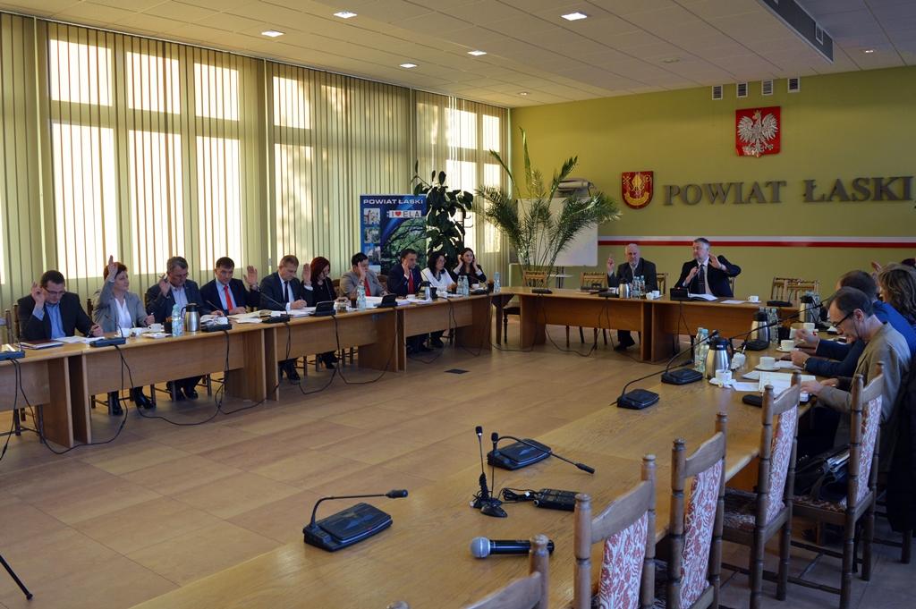 XXXVI sesja Rady Powiatu Łaskiego
