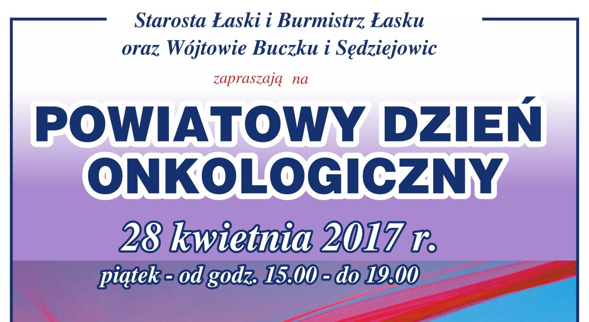 Powiatowy Dzień Onkologiczny – 2017