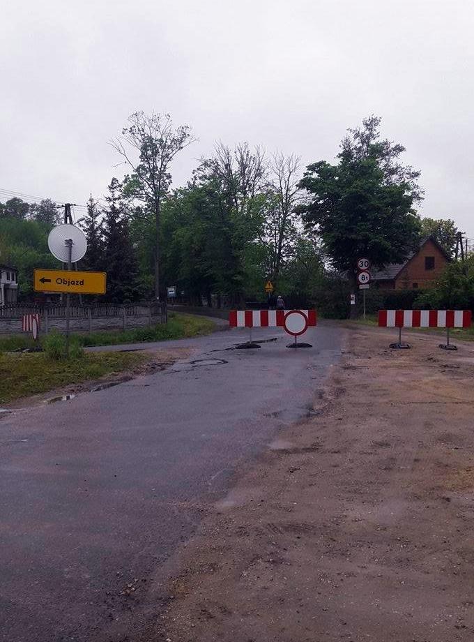 Droga powiatowa Nr 2302E Marzenin-Pruszków wyłączona z użytkowania