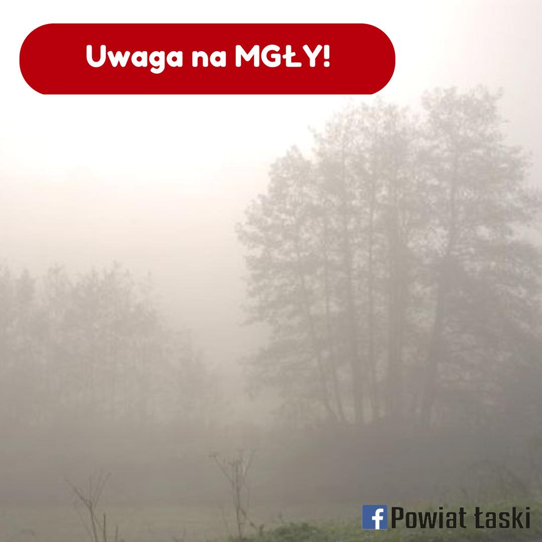 Ostrzeżenie meteorologiczne: mgła