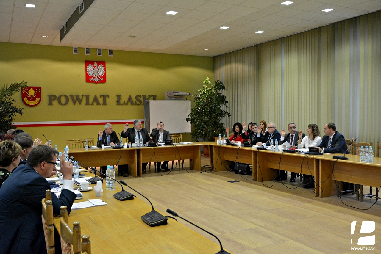 LIV sesja Rady Powiatu Łaskiego