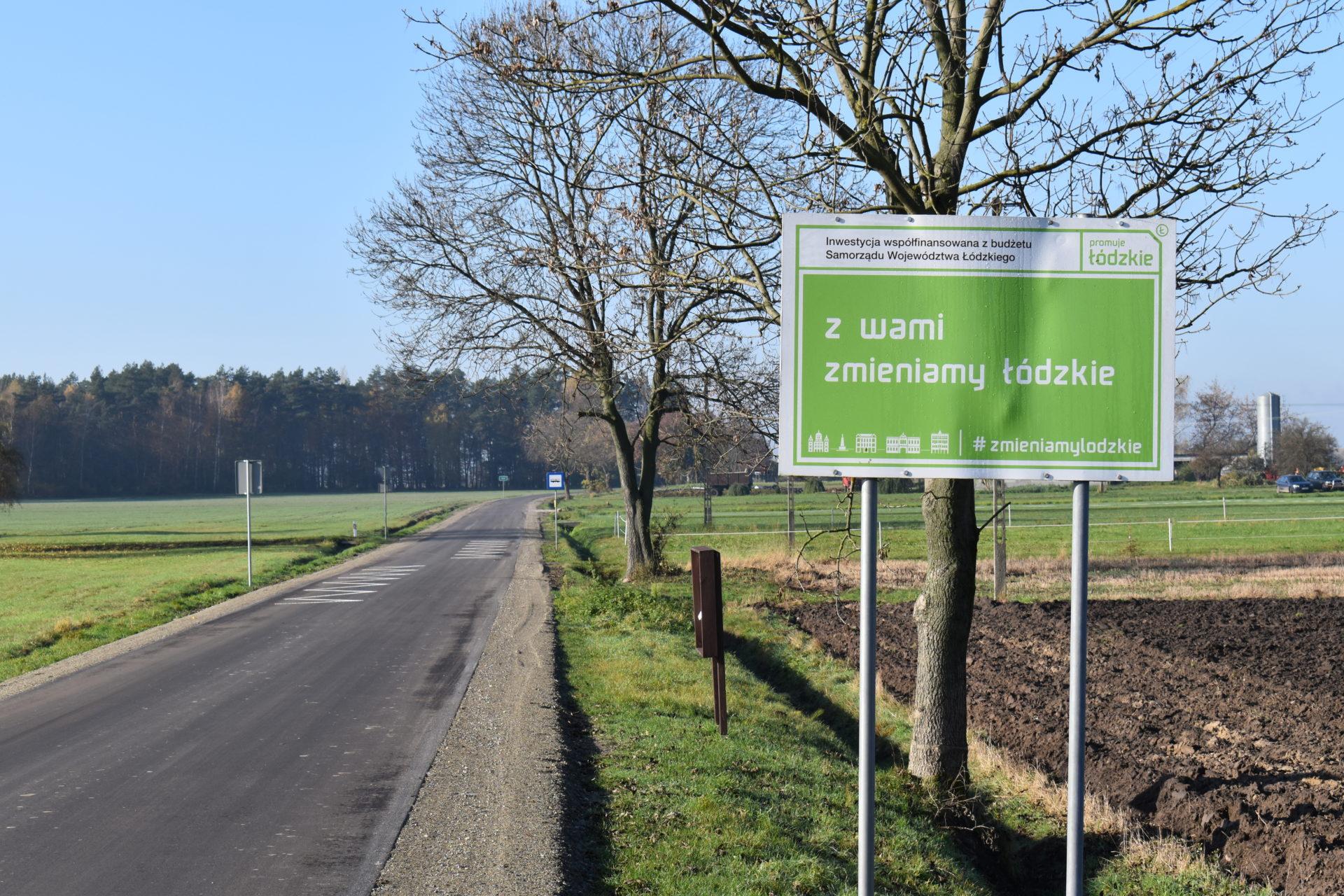 Powiat Łaski ukończył kolejną inwestycje drogową