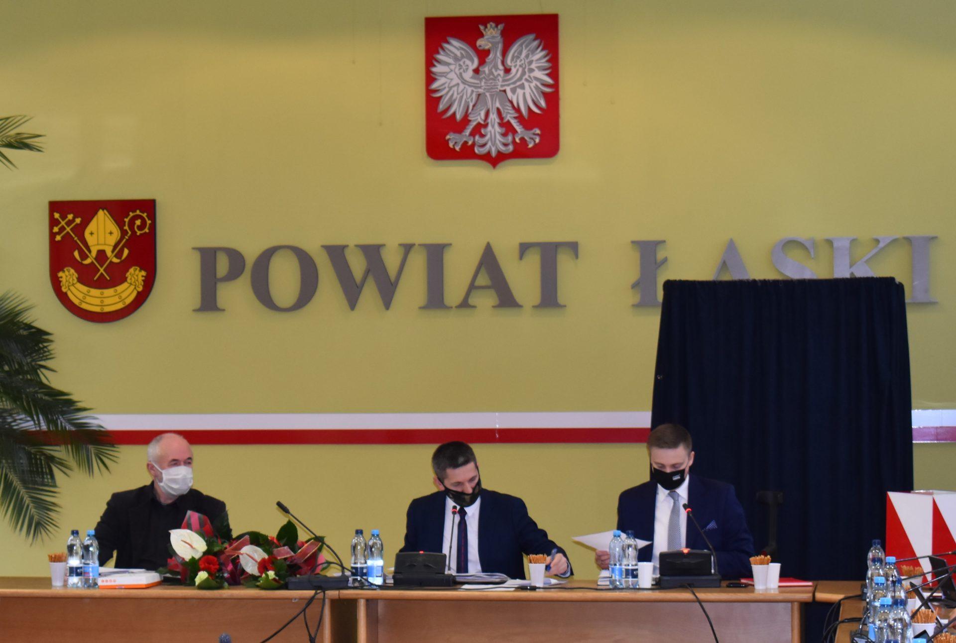 Grzegorz Dębkowski nowym Przewodniczącym Rady Powiatu Łaskiego