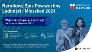 Już 1 Kwietnia rozpocznie się  Narodowy Spis Powszechny Ludności i Mieszkań 2021