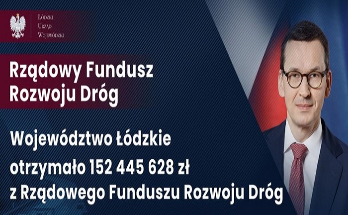 Powiat Łaski z dofinansowaniem ze środków Rządowego Funduszu Rozwoju Dróg w 2021 roku