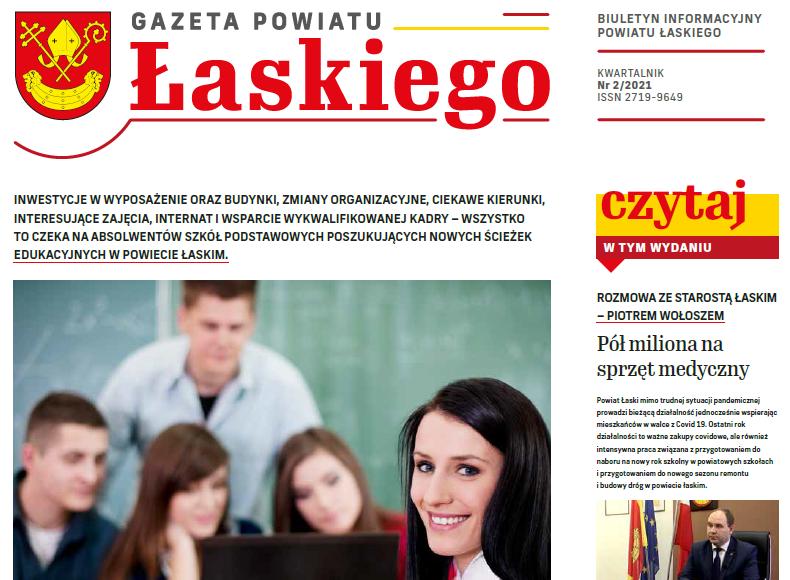 artykuł  Gazeta Powiatu Łaskiego NR 2
