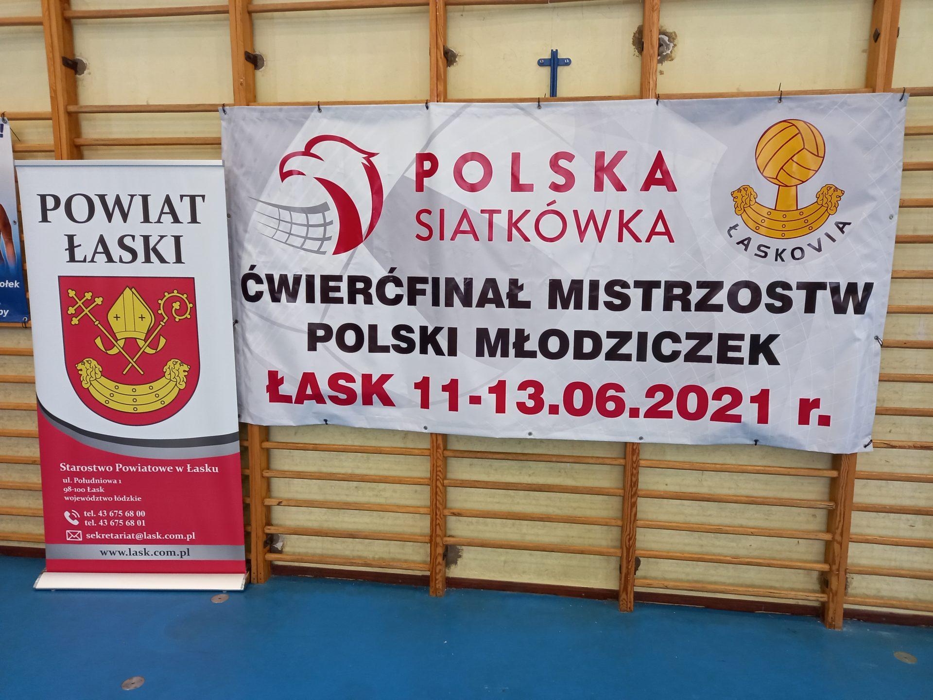 Ćwierćfinał Mistrzostw Polski Młodziczek w Łasku