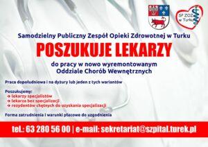 SP ZOZ w Turku poszukuje lekarzy